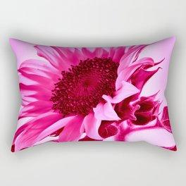Hot Pink Sunflower Rectangular Pillow