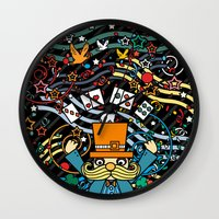 carnival Wall Clocks featuring Carnival by Kakel
