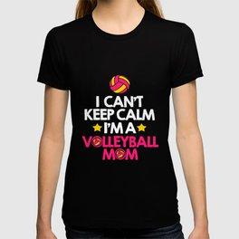 Volleyball Keep Calm Mom Mother Ball Sports T-shirt