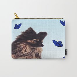 The Pomeranian and the Butterflies Carry-All Pouch