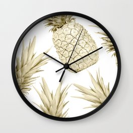 Gold Pineapple Party Wall Clock