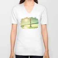 golden V-neck T-shirts featuring Golden... by Lisa Argyropoulos