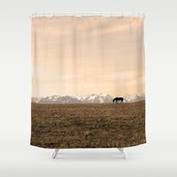 montana Shower Curtains featuring Montana Landscapes by Owl's Iris Photography