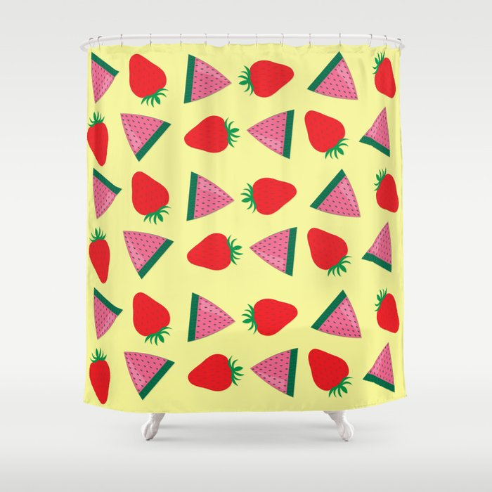 Strawberries & Watermelons Shower Curtain