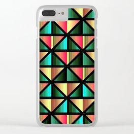 Emerald triangles Clear iPhone Case