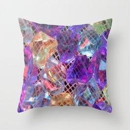 Glowing Gems Throw Pillow