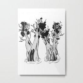 "Native Texas Plants ""W"" Metal Print"
