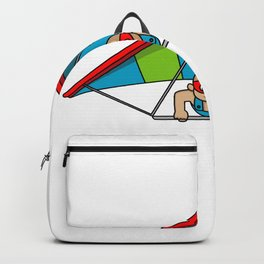 Born To Fly Hang Glider Or A Pilot Gift Backpack