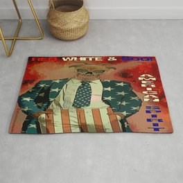 RED WHITE AND BOO - 003 Rug