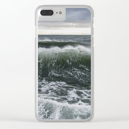 Winter Wave Clear iPhone Case