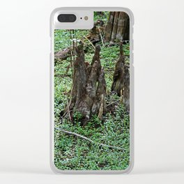 Nefarious Knees Clear iPhone Case