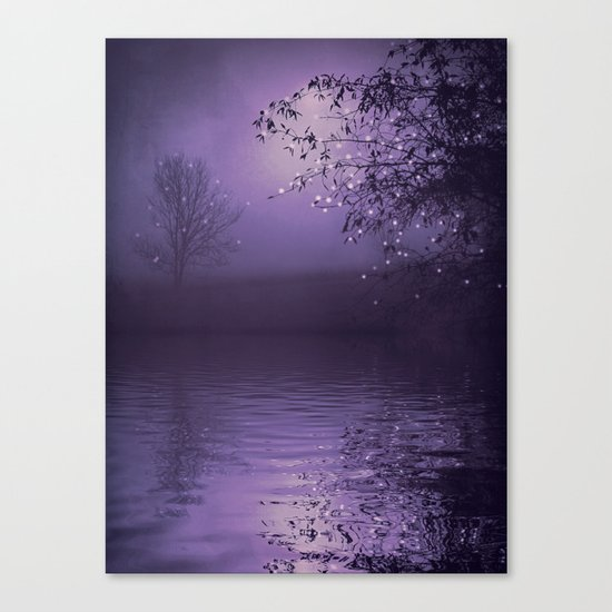 SONG OF THE NIGHTBIRD - LAVENDER Canvas Print