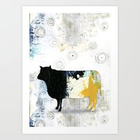 cow Art Prints featuring Cow by Sarah Ogren