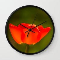 tulip Wall Clocks featuring Tulip by Bruce Stanfield