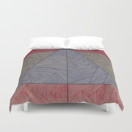 Red, Blue, Orange, Black Duvet Cover