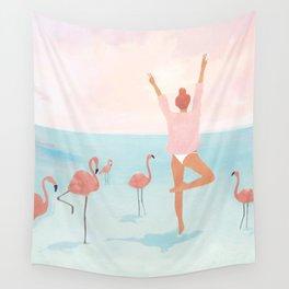 Big Flamingo Wall Tapestry