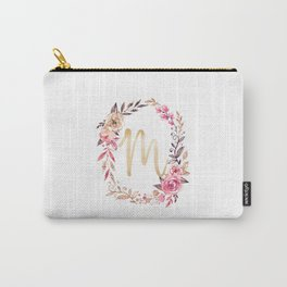 Letter M Monogramed Mu Carry-All Pouch