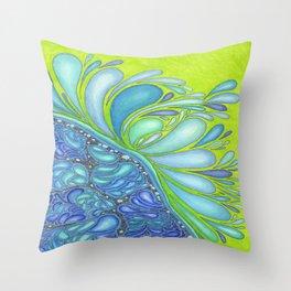 Aqua Splash Throw Pillow