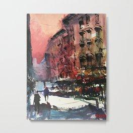 Walk in New York Metal Print