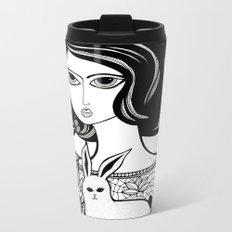 The Girl and her Bunny Metal Travel Mug