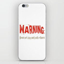 Warning iPhone Skin