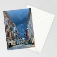 A stormy night in Alessandria, Italy Stationery Cards