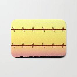 Mexico Border Barbe Wire Fence Bath Mat