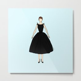 Audrey Hepburn Vintage Retro Fashion 1 Metal Print
