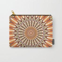 Heart of the Sunflower - Mandala Art Carry-All Pouch