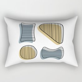 Mid Century Modern Abstract Shapes Rectangular Pillow