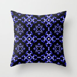 Blue Bandana Pattern Throw Pillow