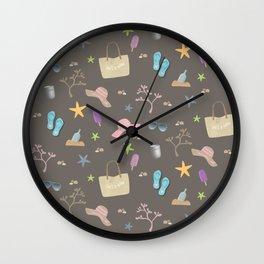 Beach Holiday Pattern Wall Clock