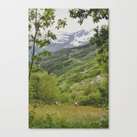 norway Canvas Prints featuring norway by anjastensrud