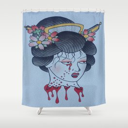 Traditional Headless Japanese Geisha Shower Curtain