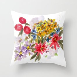 Farmers Market Bouquet 1 Throw Pillow