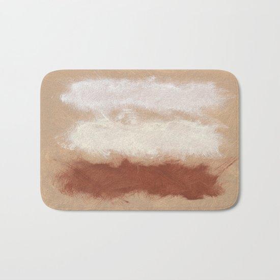 Rothko Inspired Spiced Berry Canyon Dusk 001 Mixed Stripe Modern Art Comforter Pillow #society6 Bath Mat