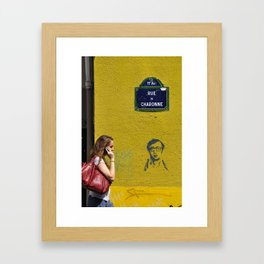 Woody's on a wall Framed Art Print
