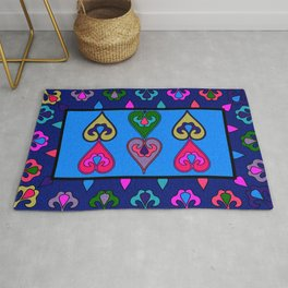Colorful Ethnic Indian Valentines Rug
