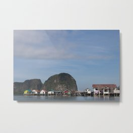 Fishing Village of Koh Panyi Metal Print