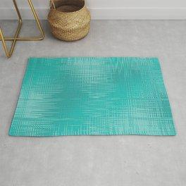 Teal Green Wave Design Rug