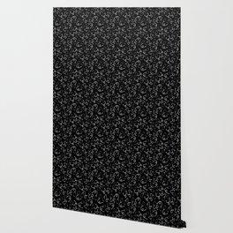 Stethoscopes - White on Black Wallpaper