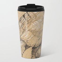 Elephant Sketch Metal Travel Mug