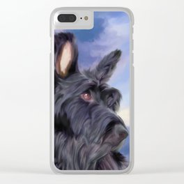 Expression Is Everything - Adorable Scottish Terrier Dog Clear iPhone Case