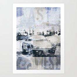 Let's go on a road trip mixed media art Art Print