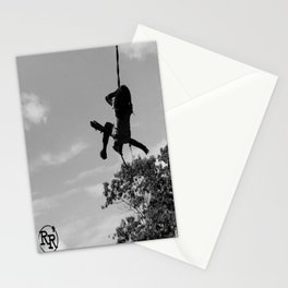 Girl on Swing B&W Stationery Cards