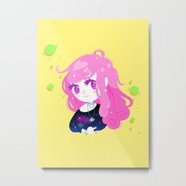 Space Cutie (pink) Metal Print