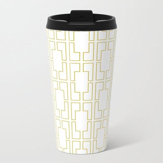 Simply Mid-Century in Mod Yellow Metal Travel Mug