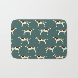 Tree Walker Coonhounds in Green Bath Mat