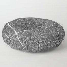 Mesa Map, Arizona USA - Charcoal Portrait Floor Pillow