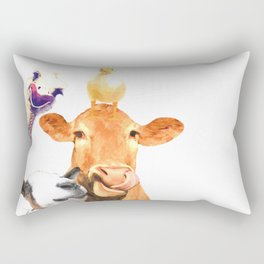 Farm Animal Friends Rectangular Pillow